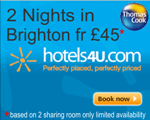 Budget rooms in Brighton from �45pp for two nights